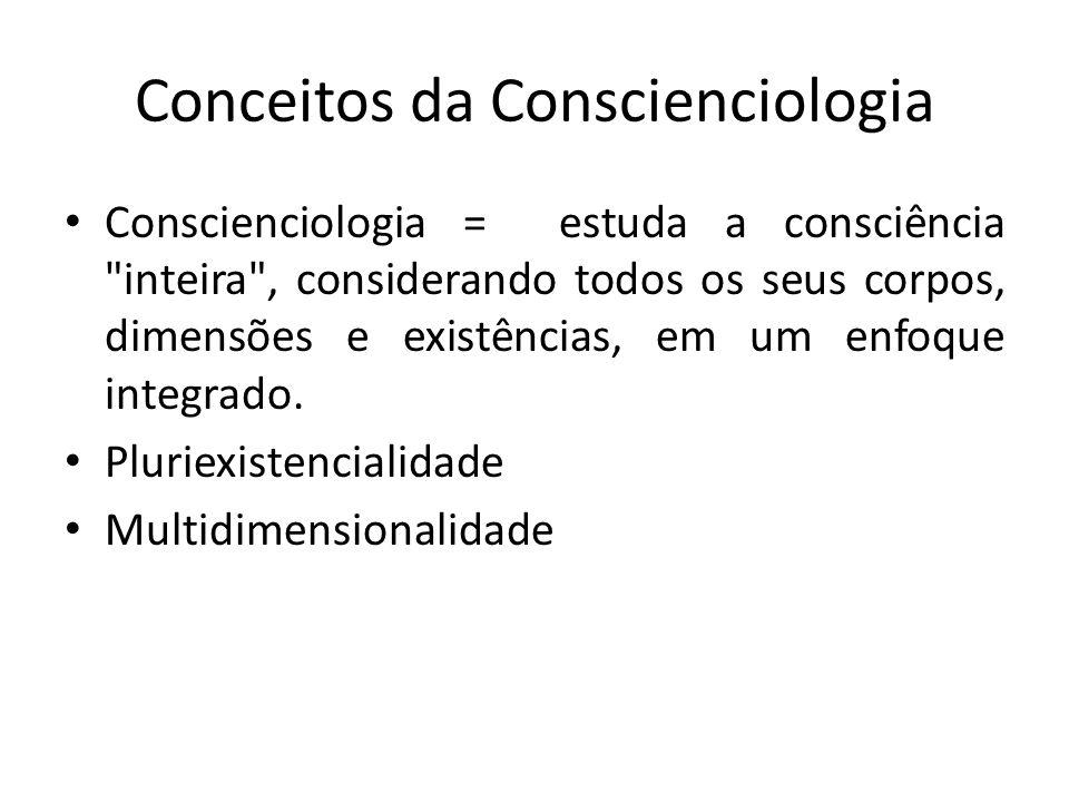 Conceitos da Conscienciologia Conscienciologia = estuda a consciência