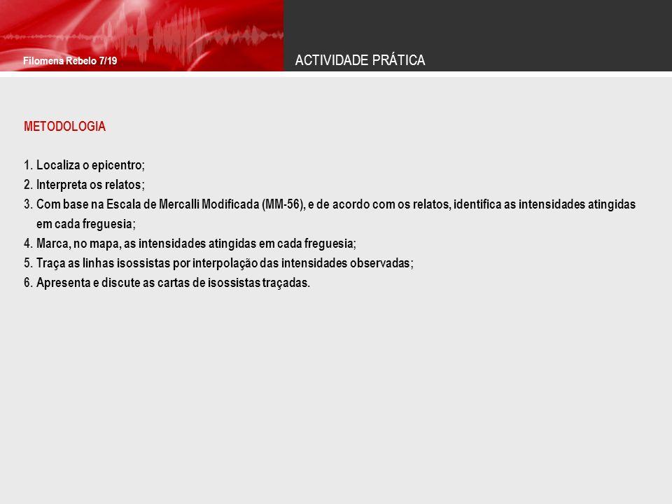 ACTIVIDADE PRÁTICA Filomena Rebelo 8/19 RELATOS DOS ACONTECIMENTOS Pelas onze horas da noite...De repente o chão move-se, agita-se...