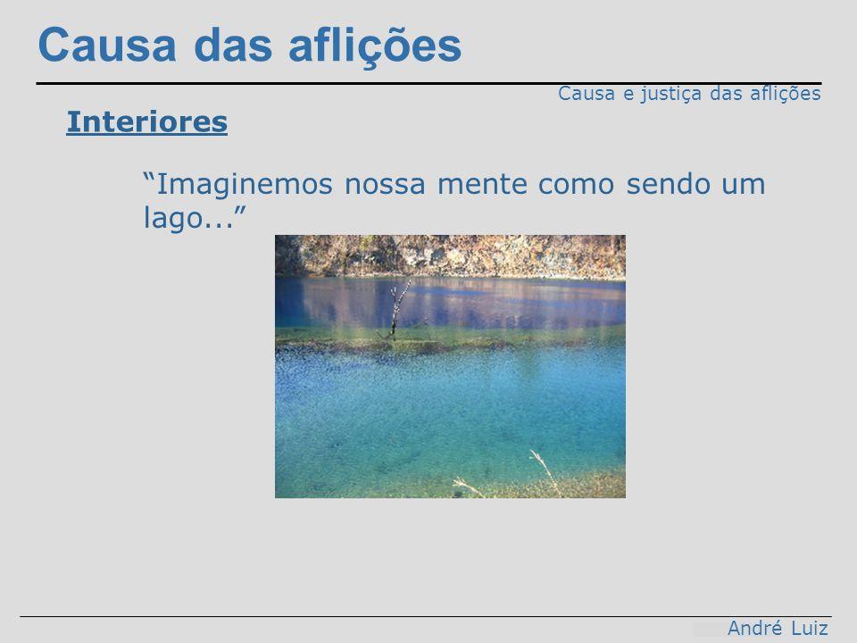 Causa das aflições Causa e justiça das aflições Interiores Imaginemos nossa mente como sendo um lago... André Luiz