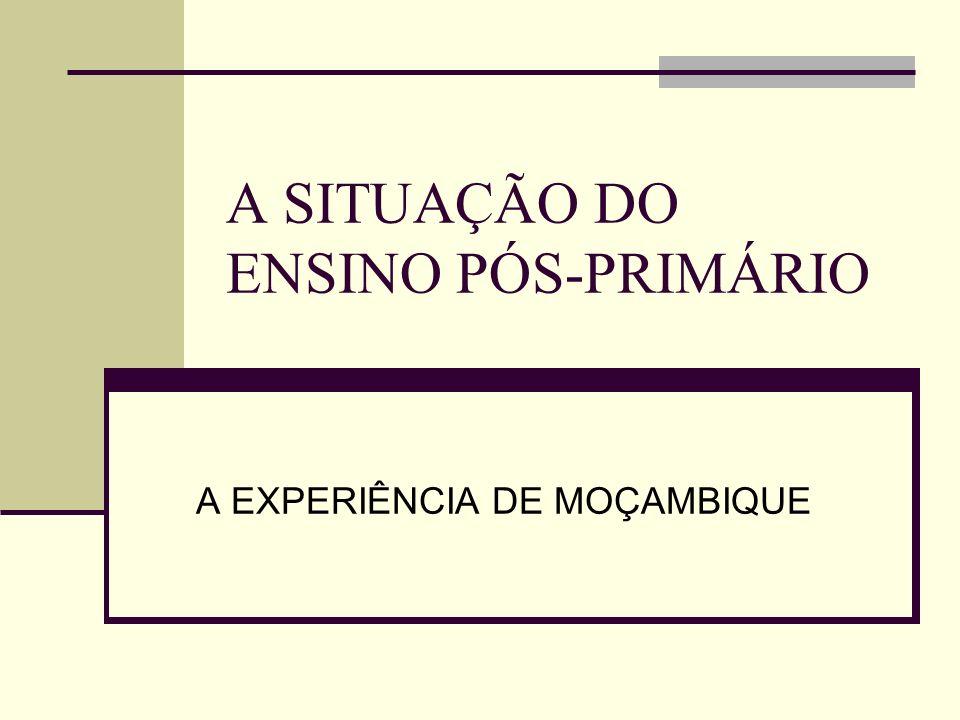 A SITUAÇÃO DO ENSINO PÓS-PRIMÁRIO A EXPERIÊNCIA DE MOÇAMBIQUE