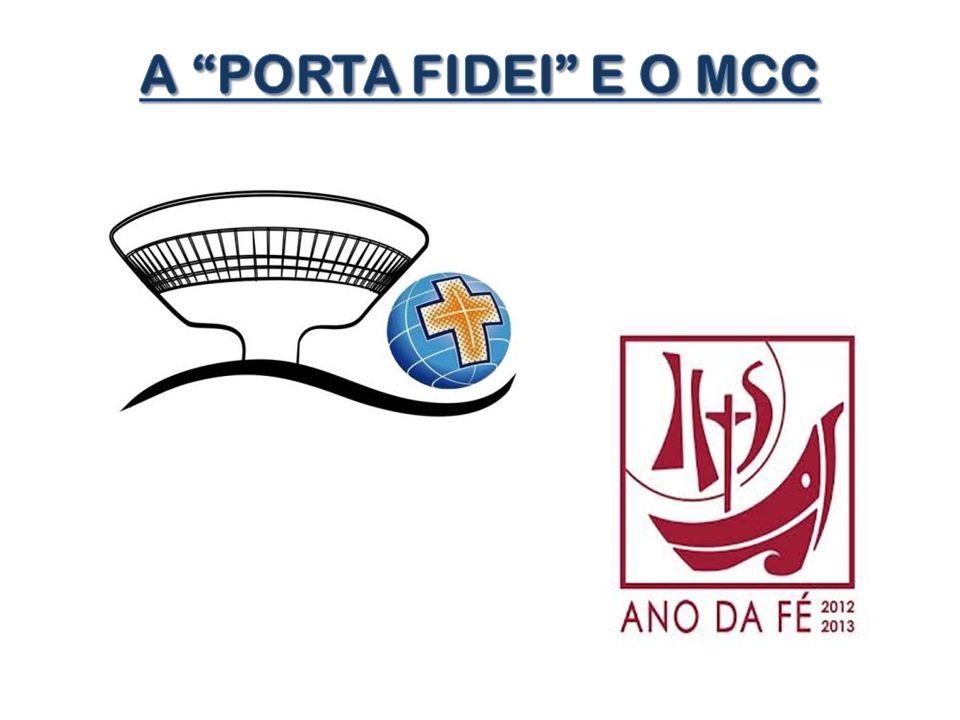 O estudo deve ter como base a Carta Apostólica PORTA FIDEI e o subsídio que o MCC elaborou para as Escolas Vivenciais e Assembleias neste ano de 2013: Do Jubileu para um novo Pentecostes .