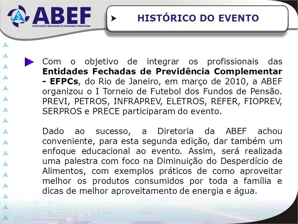 Com o objetivo de integrar os profissionais das Entidades Fechadas de Previdência Complementar - EFPCs, do Rio de Janeiro, em março de 2010, a ABEF or