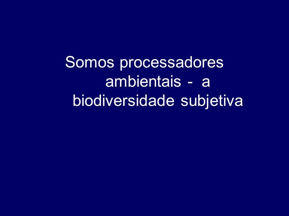 Somos processadores ambientais - a biodiversidade subjetiva