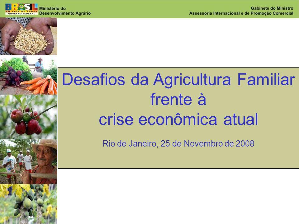 Desenvolvimento Agrário Ministério do Desenvolvimento Agrário Desafios da Agricultura Familiar frente à crise econômica atual Rio de Janeiro, 25 de Novembro de 2008