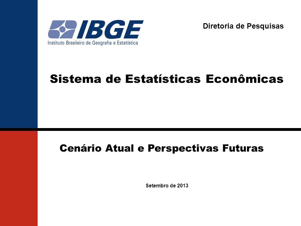 Diretoria de Pesquisas Cenário Atual e Perspectivas Futuras Setembro de 2013 Sistema de Estatísticas Econômicas