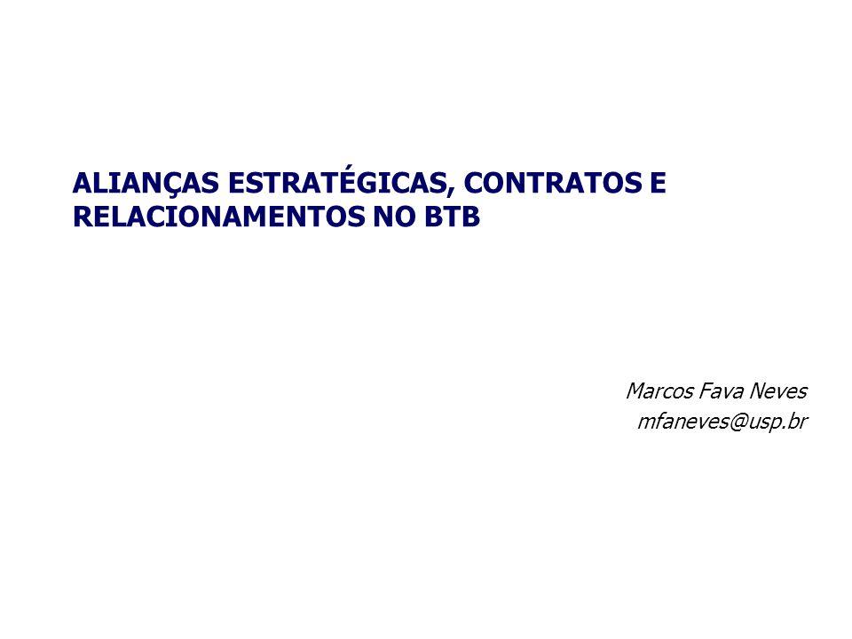 Marcos Fava Neves mfaneves@usp.br ALIANÇAS ESTRATÉGICAS, CONTRATOS E RELACIONAMENTOS NO BTB