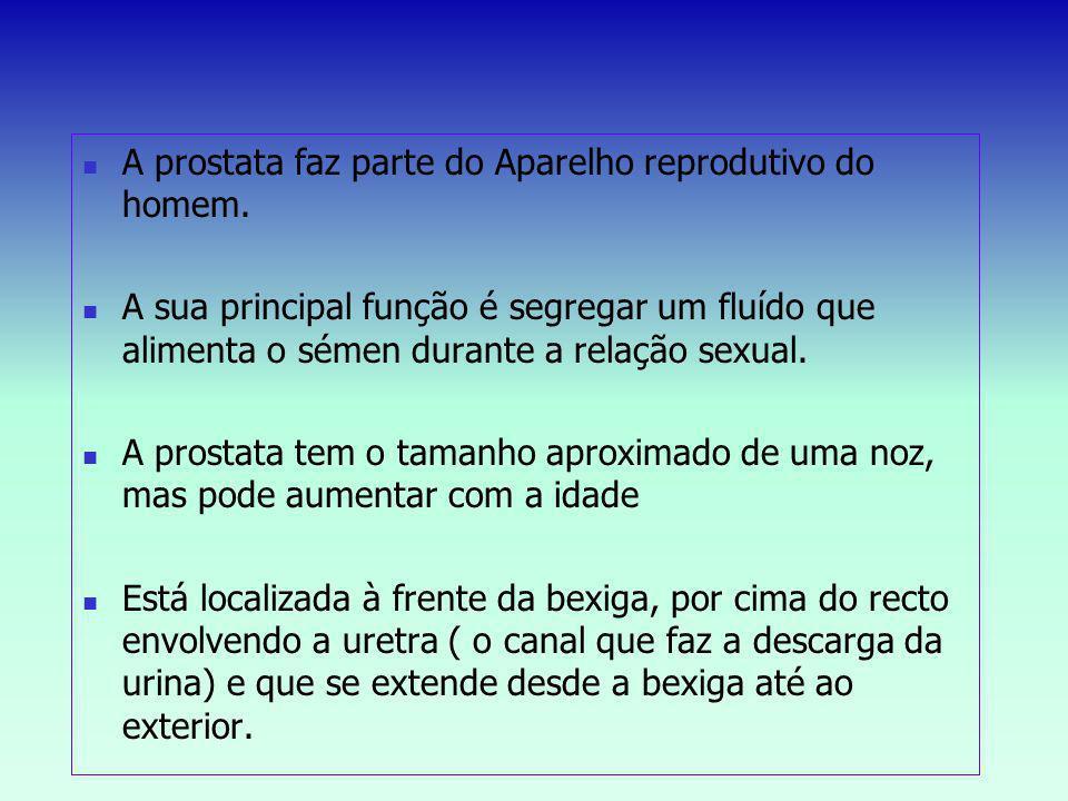 A prostata faz parte do Aparelho reprodutivo do homem.