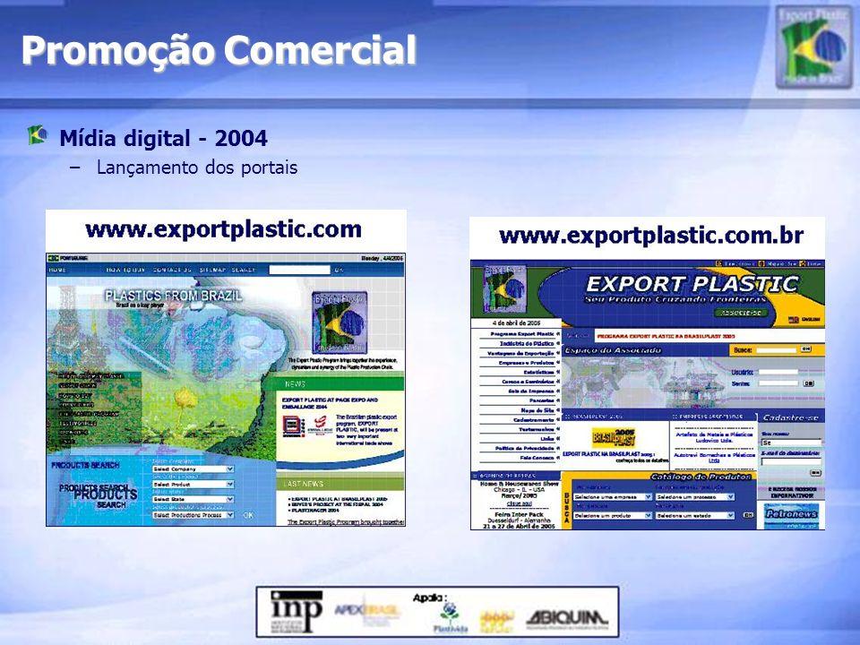 Mídia digital - 2004 –Lançamento dos portais Promoção Comercial