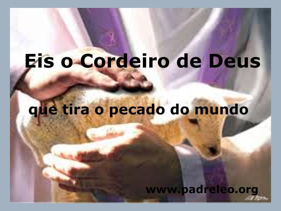 Eis o Cordeiro de Deus que tira o pecado do mundo www.padreleo.org