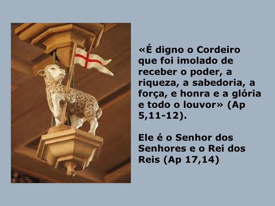 «É digno o Cordeiro que foi imolado de receber o poder, a riqueza, a sabedoria, a força, e honra e a glória e todo o louvor» (Ap 5,11-12). Ele é o Sen