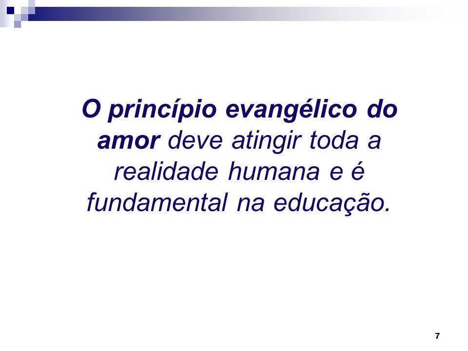 6 A convivência de D Bosco com os jovens se caracteriza pelaAmorevolezza, palavra usada por ele mesmo para exprimir a unidade de seus princípios, cont