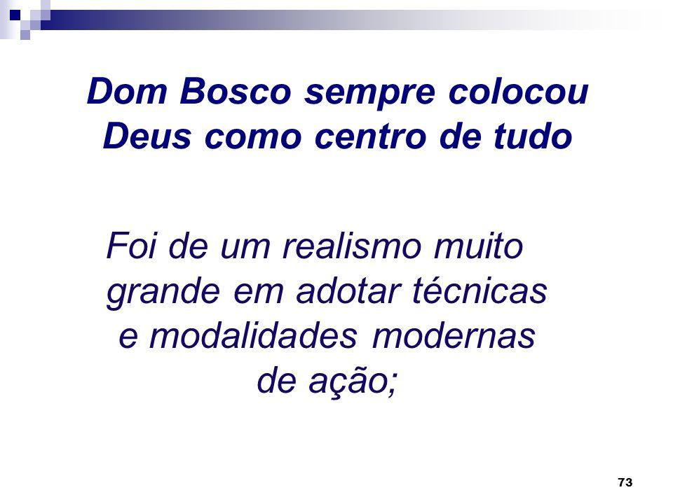 72 As novas idéias apareciam para Dom Bosco como reducionistas da pessoa humana, sobretudo quanto ao aspecto religioso, por isso, opôs-se à modernidad