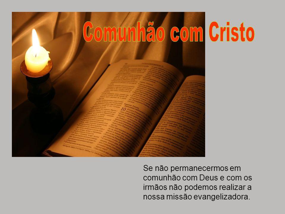 Se não permanecermos em comunhão com Deus e com os irmãos não podemos realizar a nossa missão evangelizadora.
