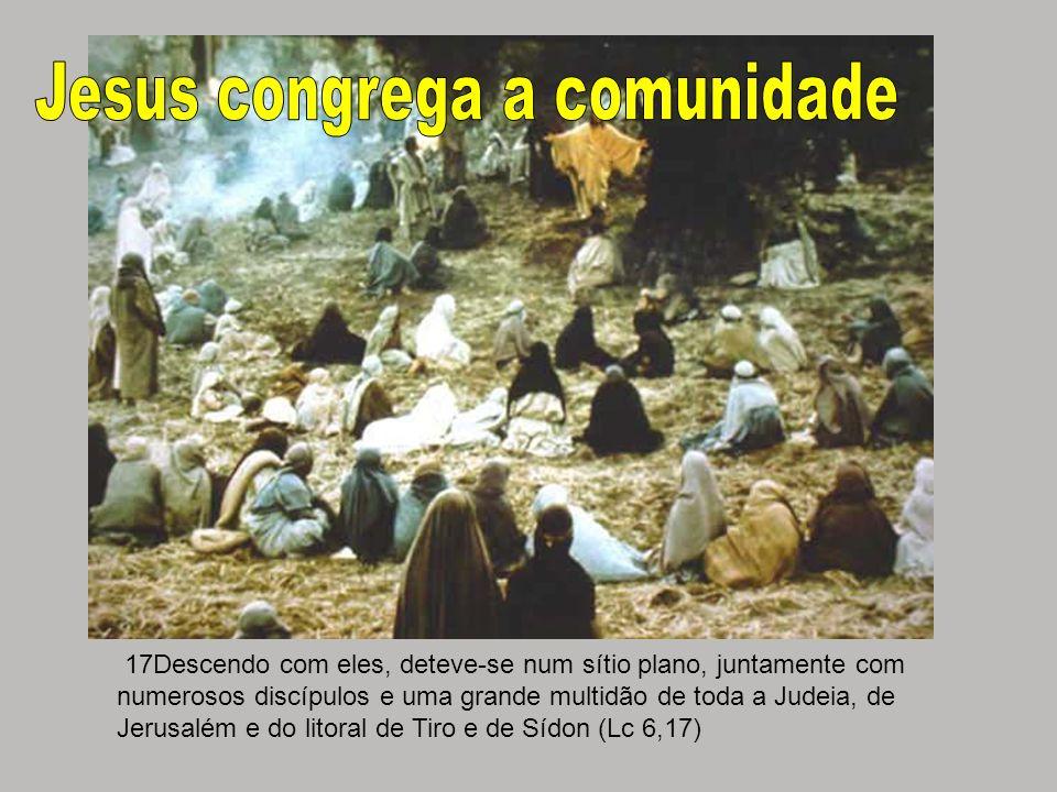 17Descendo com eles, deteve-se num sítio plano, juntamente com numerosos discípulos e uma grande multidão de toda a Judeia, de Jerusalém e do litoral