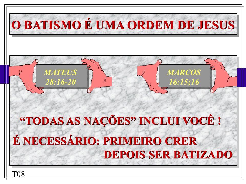 O BATISMO É UMA ORDEM DE JESUS COM BASE NA PALAVRA DE DEUS: VOCÊ ACHA CERTO BATIZAR CRIANÇAS RECÉM NASCIDAS.