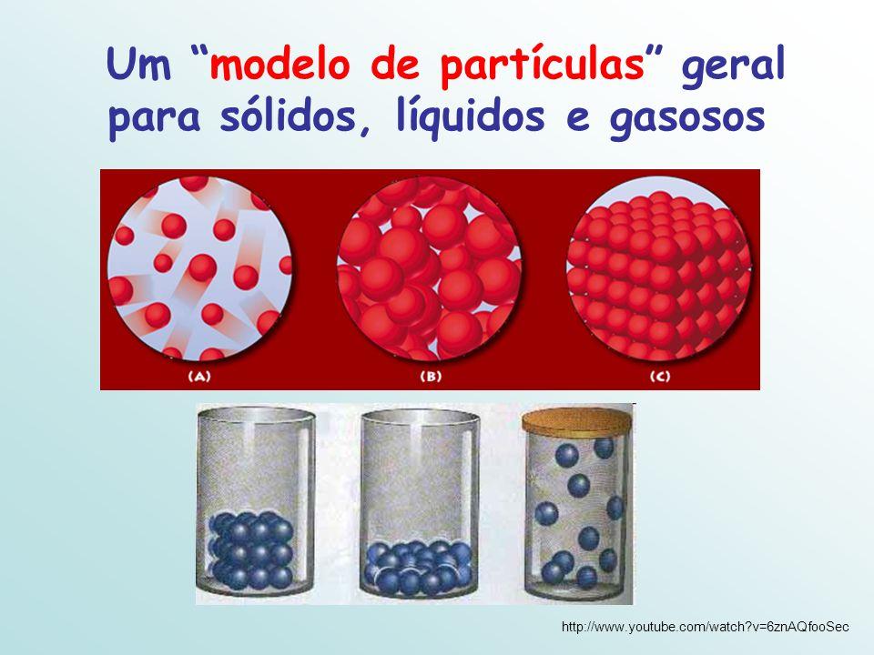 Um modelo de partículas geral para sólidos, líquidos e gasosos http://www.youtube.com/watch?v=6znAQfooSec