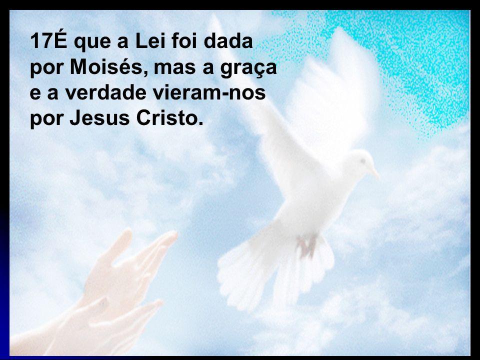 17É que a Lei foi dada por Moisés, mas a graça e a verdade vieram-nos por Jesus Cristo.