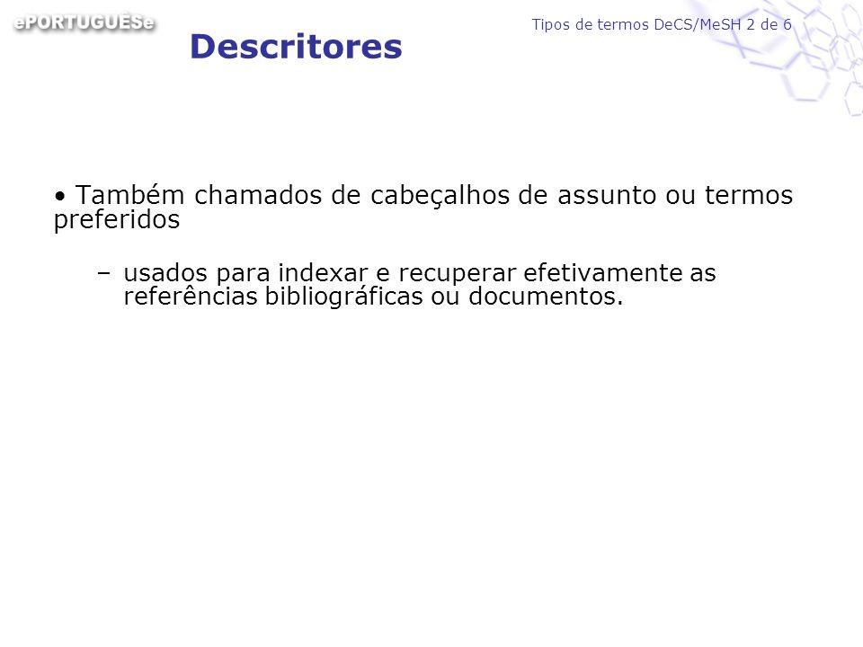 http://decs2007.bvsalud.org BVS>TERMINOLOGIA EM SAÚDE O sistema de Consulta ao DeCS chamado de DeCS Server Interfaces em outros idiomas Página inicial do DeCS online