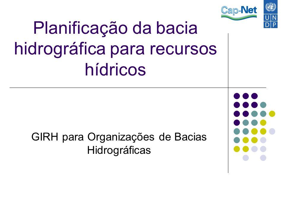 Planificação da bacia hidrográfica para recursos hídricos GIRH para Organizações de Bacias Hidrográficas