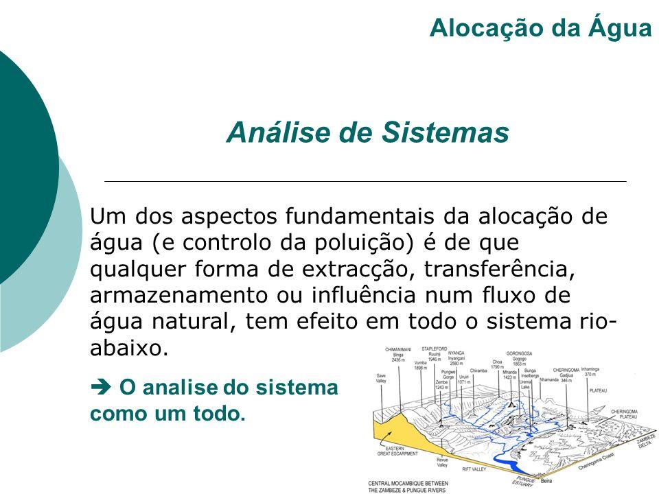 Um dos aspectos fundamentais da alocação de água (e controlo da poluição) é de que qualquer forma de extracção, transferência, armazenamento ou influê