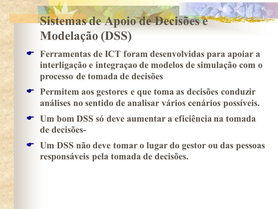 Sistemas de Apoio de Decisões e Modelação (DSS) Ferramentas de ICT foram desenvolvidas para apoiar a interligação e integraçao de modelos de simulação