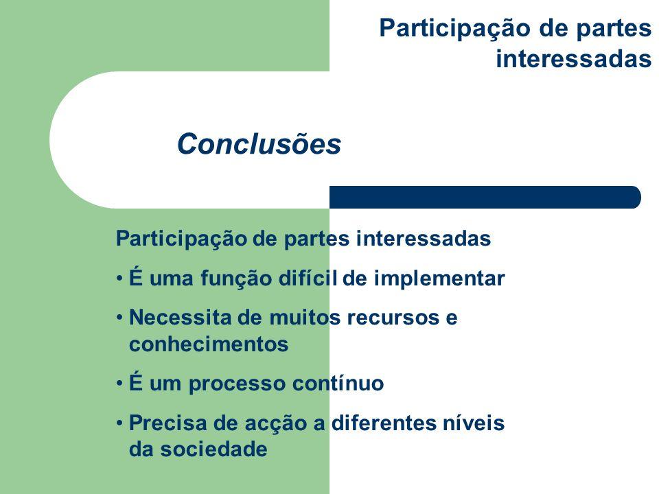 É uma função difícil de implementar Necessita de muitos recursos e conhecimentos É um processo contínuo Precisa de acção a diferentes níveis da socied