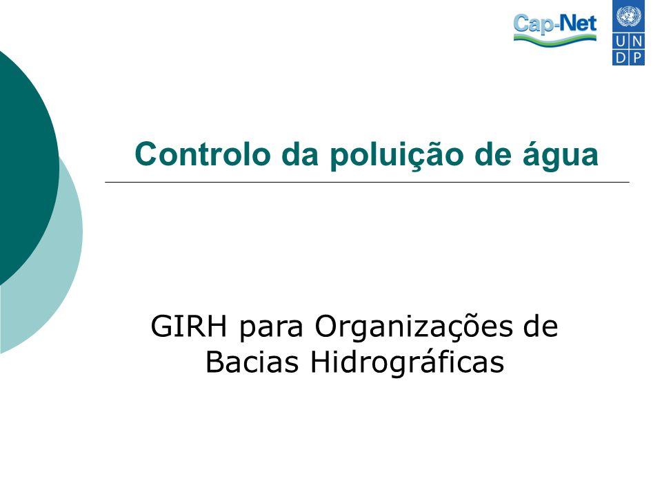 Controlo da poluição de água GIRH para Organizações de Bacias Hidrográficas