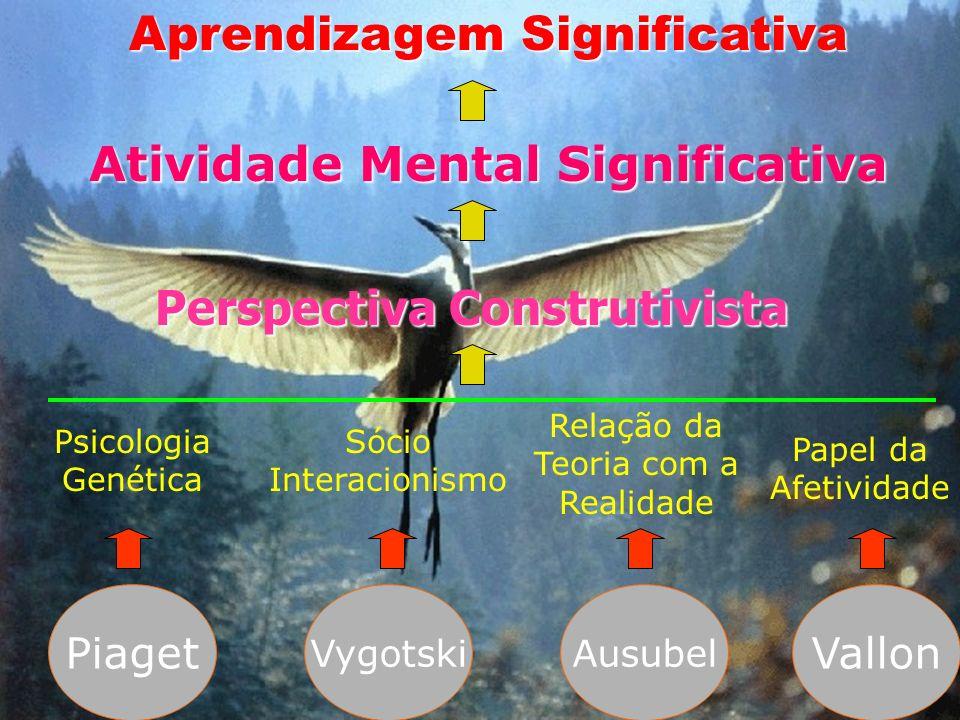 Aprendizagem Significativa Atividade Mental Significativa Perspectiva Construtivista Relação da Teoria com a Realidade Psicologia Genética Sócio Inter
