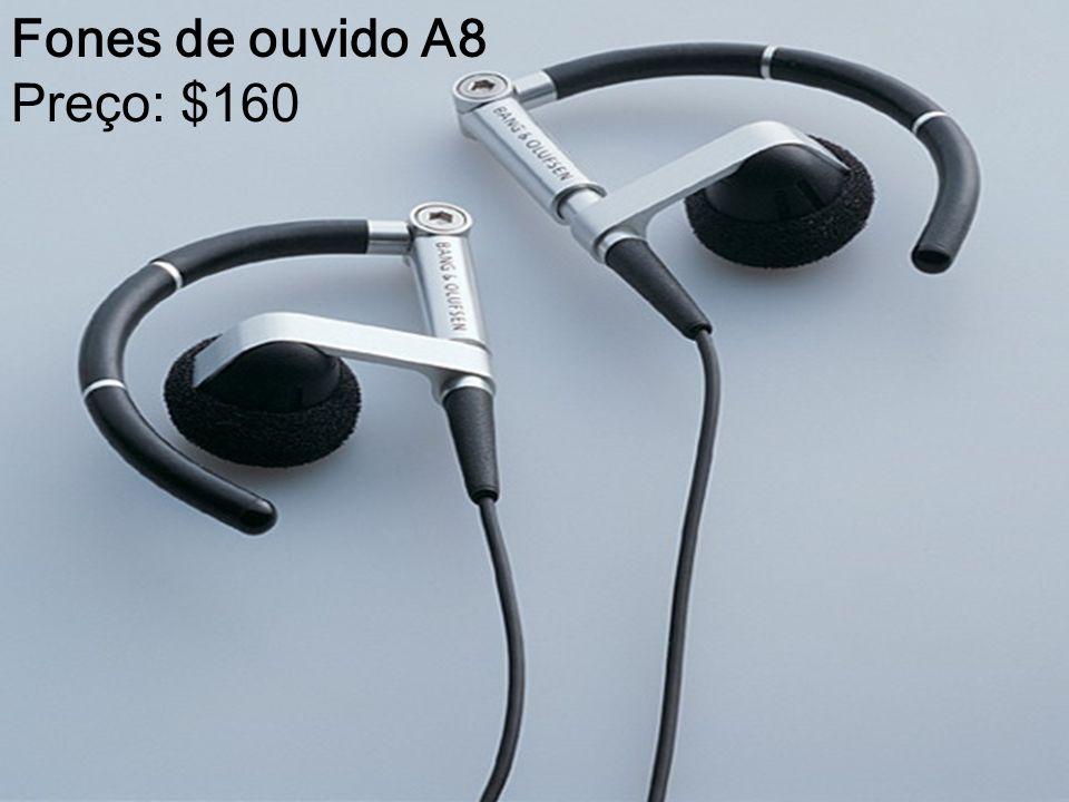 Fones de ouvido A8 Preço: $160
