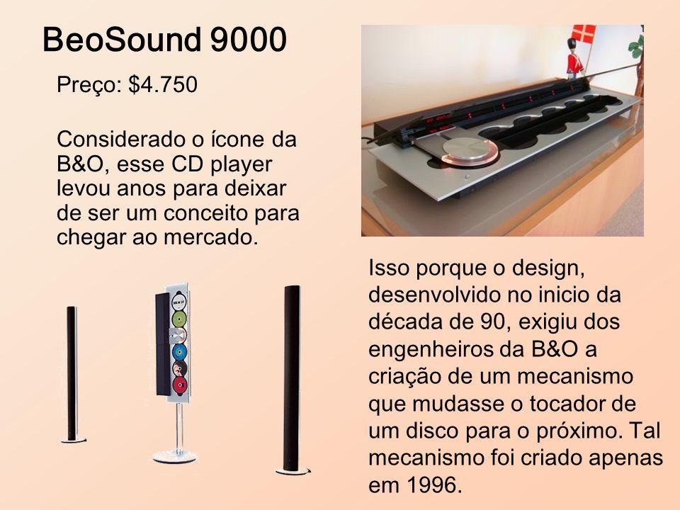 Preço: $4.750 Considerado o ícone da B&O, esse CD player levou anos para deixar de ser um conceito para chegar ao mercado. BeoSound 9000 Isso porque o