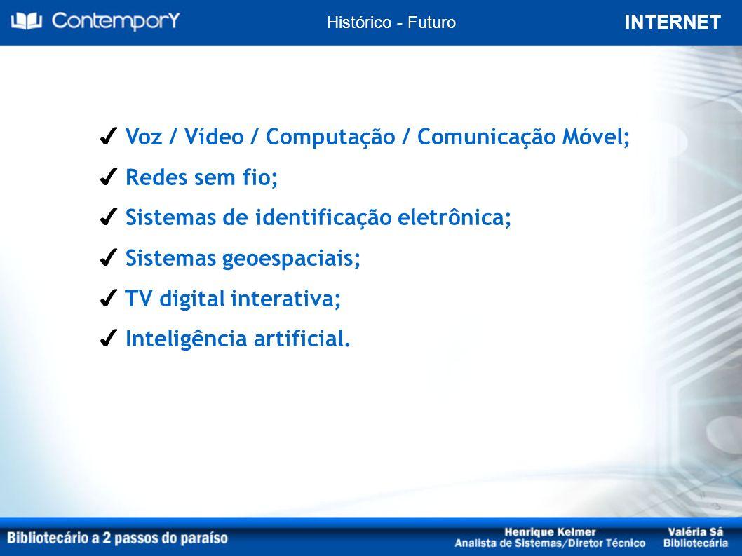 INTERNET Histórico - Realidade Convergência Digital e Inclusão Digital (social)