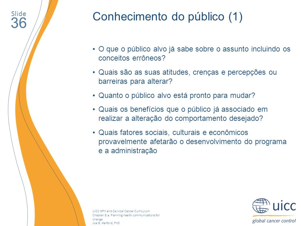 UICC HPV and Cervical Cancer Curriculum Chapter 8.a.