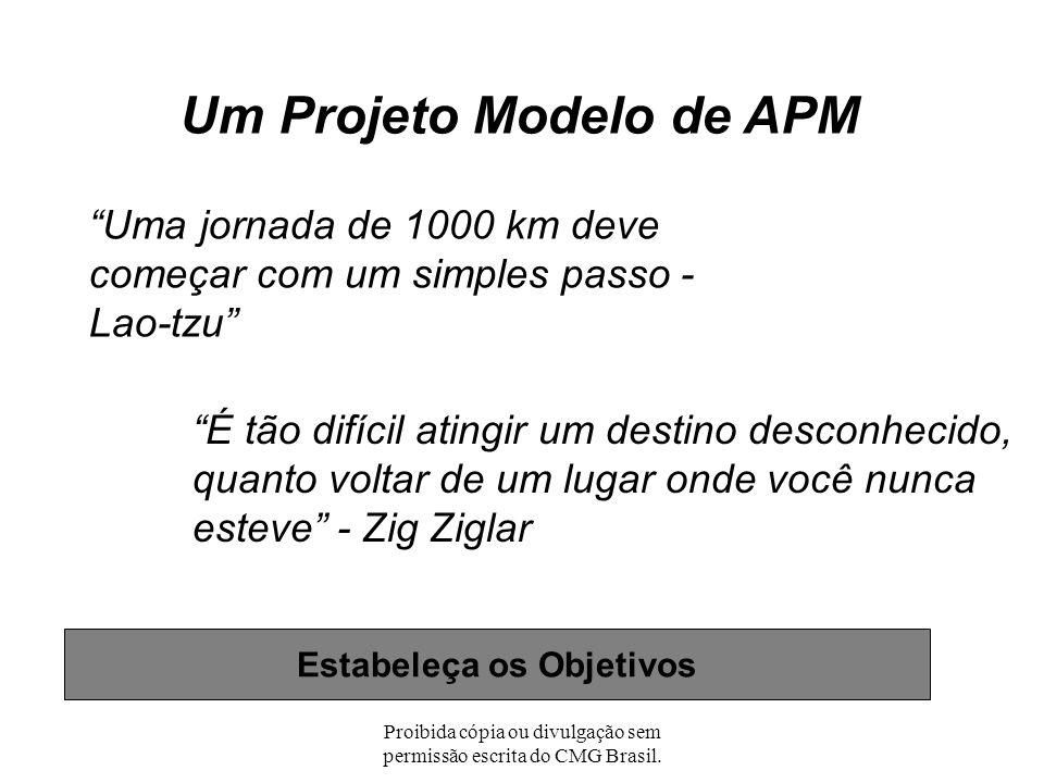 Proibida cópia ou divulgação sem permissão escrita do CMG Brasil. Estabeleça os Objetivos Gestão da Performance da Aplicação: Inserindo os Pontos de A