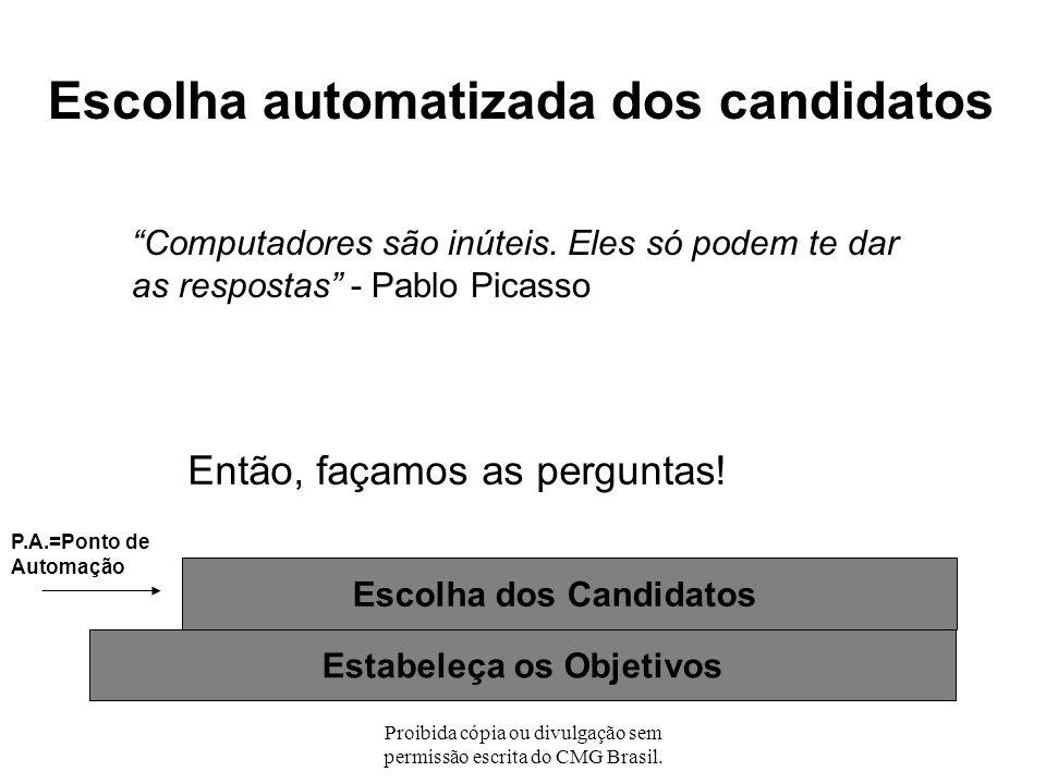 Proibida cópia ou divulgação sem permissão escrita do CMG Brasil. No Projeto Modelo de APM - Reduzir o consumo de CPU -Reduzir o tempo de sala (batch)