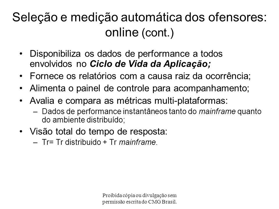 Proibida cópia ou divulgação sem permissão escrita do CMG Brasil. Alinha os objetivos das transações-negócio através de limites de gatilho (thresholds