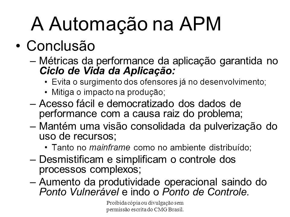 Proibida cópia ou divulgação sem permissão escrita do CMG Brasil. No Projeto Modelo de APM Analise os casos Faça as mudanças Escolha dos Candidatos Me