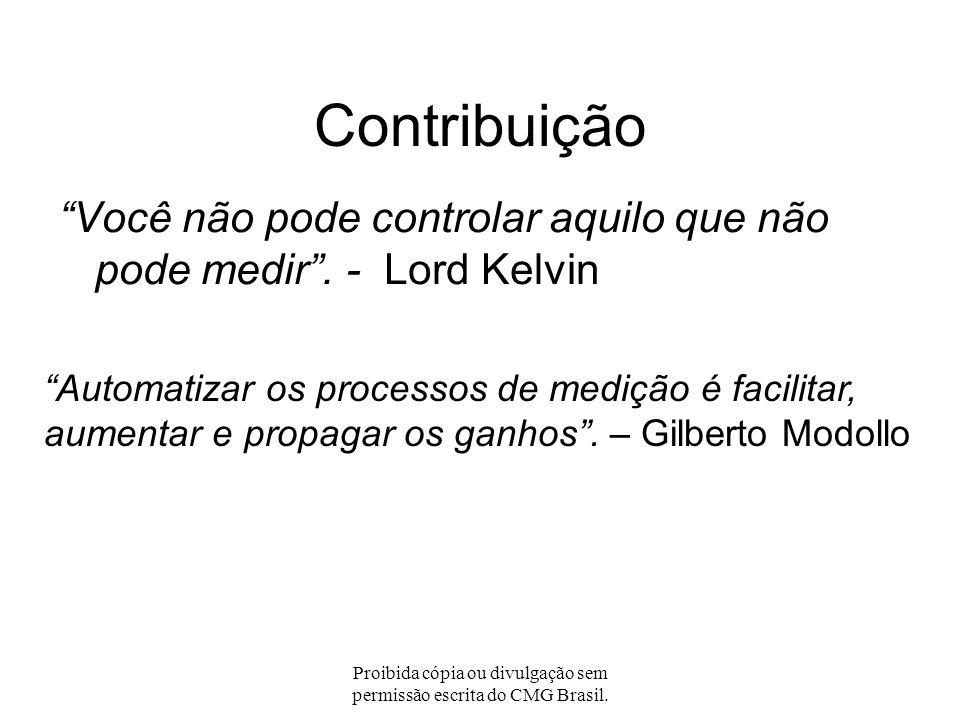 Proibida cópia ou divulgação sem permissão escrita do CMG Brasil. Tendência crescente: Complexidade? CICS COBOL JAVA DB2 WebSphere WebSphere MQ UCW In