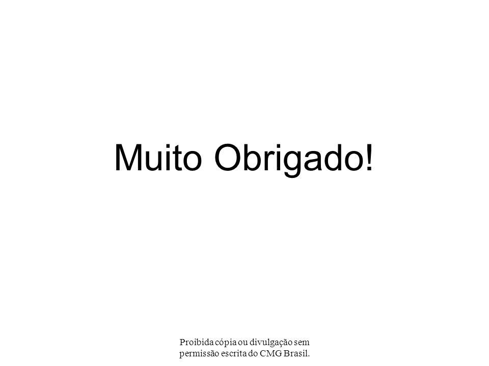 Proibida cópia ou divulgação sem permissão escrita do CMG Brasil. Perguntas?