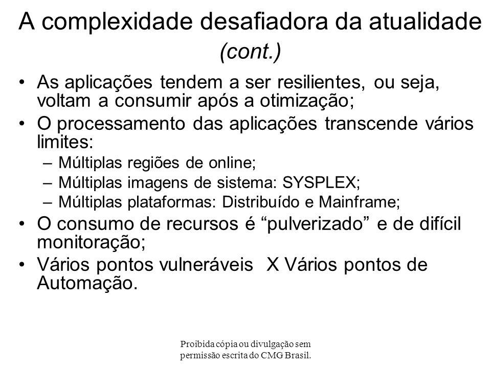 Proibida cópia ou divulgação sem permissão escrita do CMG Brasil. A complexidade desafiadora da atualidade Aplicações de múltiplas camadas lógicas; Ap