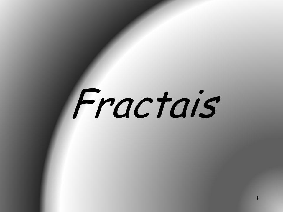2 1975 - Benoit Mandelbrot criou a denominação fractal.