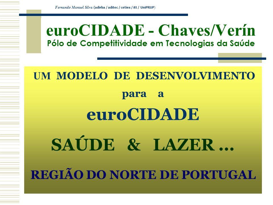 euroCIDADE - Chaves/Verín Pólo de Competitividade em Tecnologias da Saúde UM MODELO DE DESENVOLVIMENTO para a euroCIDADE SAÚDE & LAZER... REGIÃO DO NO