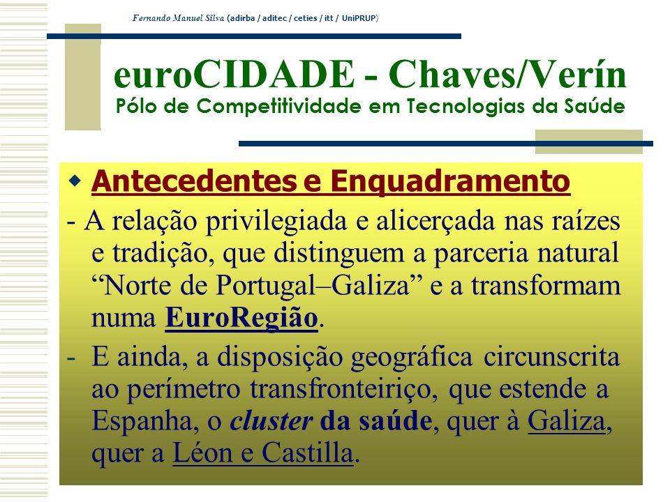euroCIDADE - Chaves/Verín Pólo de Competitividade em Tecnologias da Saúde Antecedentes e Enquadramento - A relação privilegiada e alicerçada nas raíze