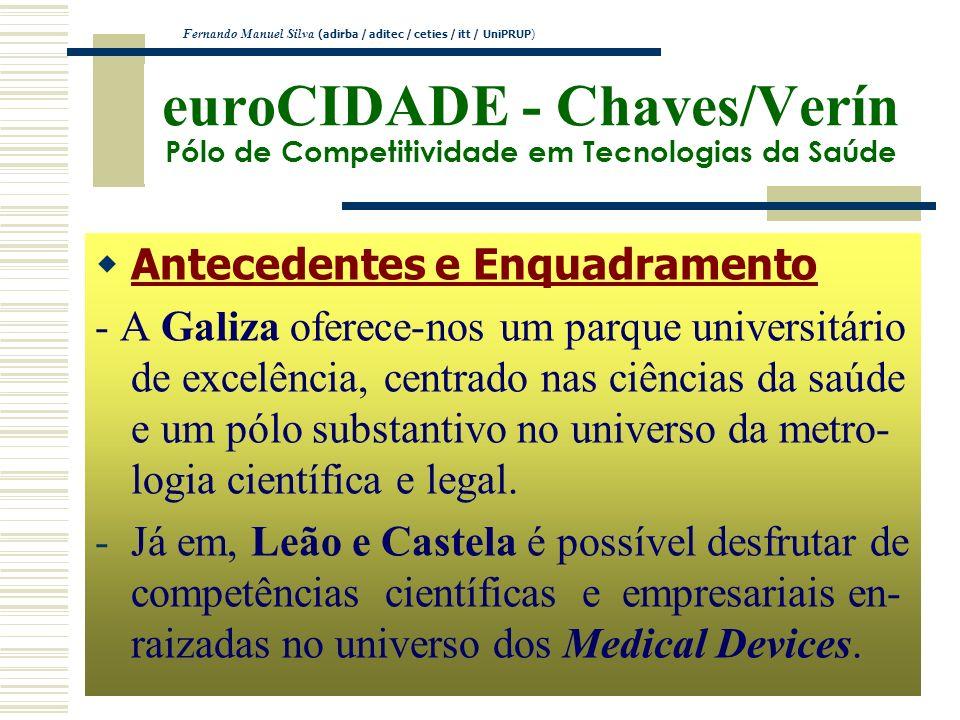euroCIDADE - Chaves/Verín Pólo de Competitividade em Tecnologias da Saúde Antecedentes e Enquadramento - A Galiza oferece-nos um parque universitário