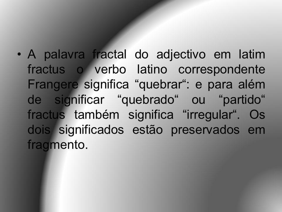 Um Fractal é um objecto que não perde a sua definição formal à medida que é ampliado, mantendo-se a sua estrutura idêntica à original.