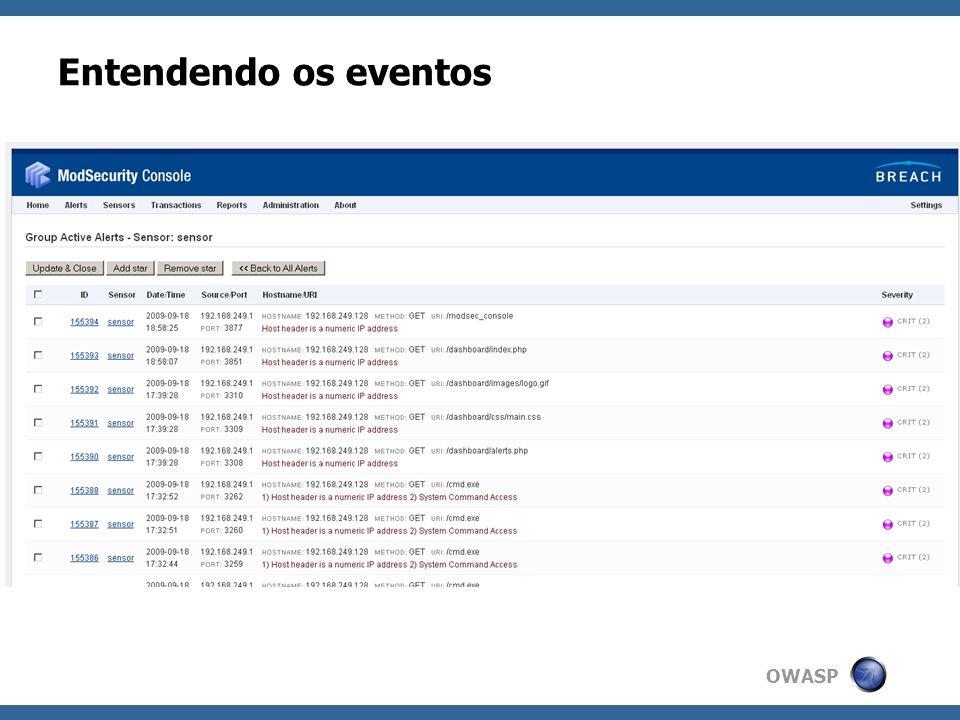 OWASP Entendendo os eventos
