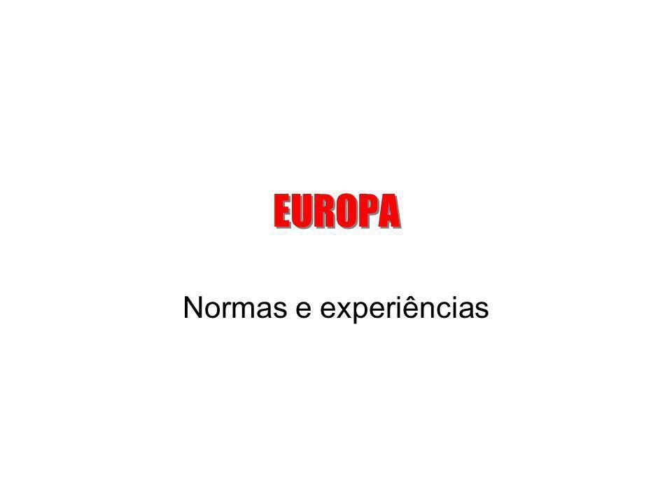 EUROPA Normas e experiências