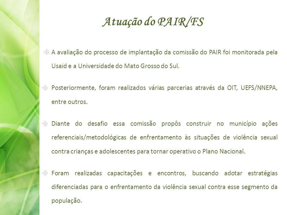 Atuação do PAIR/FS A avaliação do processo de implantação da comissão do PAIR foi monitorada pela Usaid e a Universidade do Mato Grosso do Sul. Poster