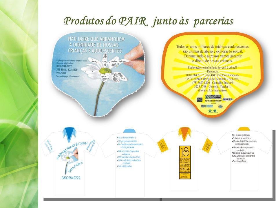 Produtos do PAIR junto às parcerias