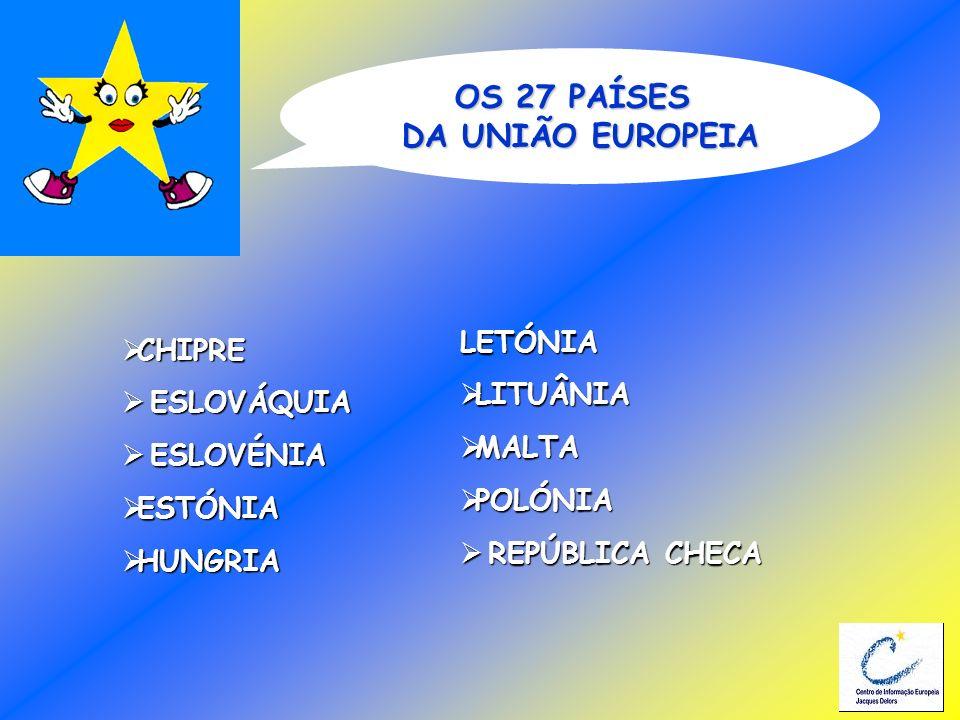 OS 27 PAÍSES DA UNIÃO EUROPEIA CHIPRE CHIPRE ESLOVÁQUIA ESLOVÁQUIA ESLOVÉNIA ESLOVÉNIA ESTÓNIA ESTÓNIA HUNGRIA HUNGRIA LETÓNIA LITUÂNIA LITUÂNIA MALTA