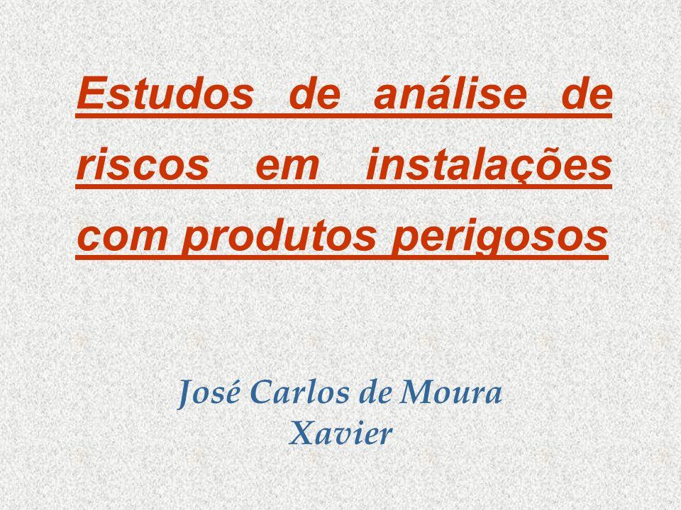 Estudos de análise de riscos em instalações com produtos perigosos José Carlos de Moura Xavier
